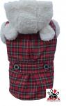 Vorführmodell - DoggyDolly Hundemantel Teddy rot W261