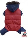 Vorführmodell - DoggyDolly Hunde-Schneeanzug blau-rot W279