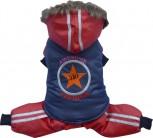 DoggyDolly W282 Schneeanzug für Hunde rot-blau - S