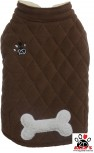 Vorführmodell - DoggyDolly Hundemanrel Fleece braun W349