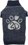 DoggyDolly W353 Strickpullover für Hunde Jeans-Look -XXL- Brust 56-58 cm Rücken 36-38 cm