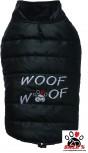 Vorführmodell - DoggyDolly Hundemantel WOOFWOOF schwarz W381