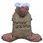 DoggyDolly W407 3-in-1 Schneeoverall für Hunde cappuccino